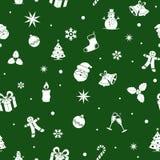 рождество предпосылки безшовное Плоские цвета Дизайн стиля мультфильма однокрасочный иллюстрация вектора