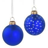 рождество предпосылки голубое декоративное Стоковые Изображения
