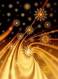 рождество предпосылки золотистое Стоковые Изображения