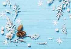 рождество предпосылки красивейшее голубое Стоковое Изображение RF