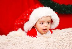 рождество предпосылки младенца изолированное над белизной Стоковое Изображение