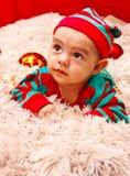 рождество предпосылки младенца изолированное над белизной Стоковое Фото