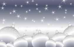 рождество предпосылки орнаментирует вокруг глянцеватого серебра иллюстрация штока