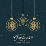 рождество предпосылки самана создало декоративное изображение иллюстратора Стоковые Фотографии RF