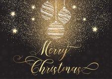 рождество предпосылки самана создало декоративное изображение иллюстратора Стоковое Изображение RF