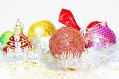 рождество предпосылки toys белизна вала Концепция Xmas и Нового Года Стоковые Фотографии RF