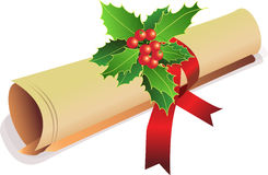 рождество приглашает старый перечень иллюстрация вектора