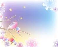 рождество птицы предпосылки Бесплатная Иллюстрация