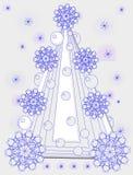Рождество самая мечтательная и возгонять элегантность бесплатная иллюстрация
