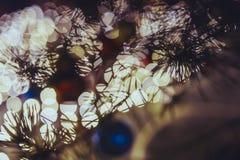Рождество Света праздника города ночи Стоковое Изображение RF