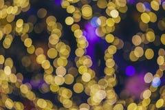 Рождество Света праздника города ночи стоковое фото rf