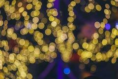 Рождество Света праздника города ночи Стоковые Изображения