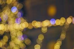 Рождество Света праздника города ночи Стоковое Изображение