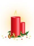 рождество свечки Иллюстрация вектора