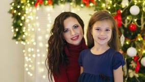 Рождество семьи Мать и дочь стоковая фотография