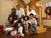 Рождество семьи Стоковая Фотография RF