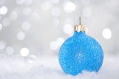 рождество сини шарика Стоковая Фотография