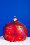рождество сини шарика Стоковое Изображение