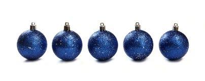 рождество сини шариков Стоковые Фото