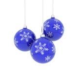 рождество сини шариков иллюстрация штока