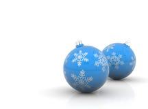рождество сини шариков Стоковое Изображение