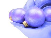 рождество сини шариков Стоковые Фотографии RF