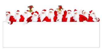 рождество счастливый santa Стоковые Фото