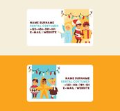 Рождество 2019 С Новым Годом! предпосылок вектора визитной карточки шоу-бизнеса события костюма детей детей поздравительной откры бесплатная иллюстрация