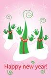 рождество танцуя блестящие валы иллюстрация вектора