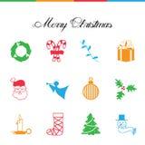 рождество украсило вал икон шерсти венок Конфета Дерево ангеликового santa украшение стоковая фотография