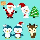 рождество украсило вал икон шерсти Коллекция Стоковые Фотографии RF