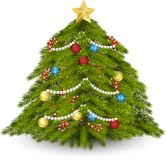 рождество украсило вал иллюстрация вектора