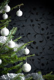 рождество украсило серебряный вал Стоковые Фото