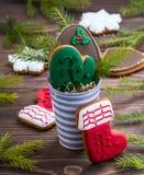 рождество украсило gingerbread Стоковое Фото
