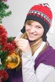 рождество украшает вал девушки Стоковая Фотография