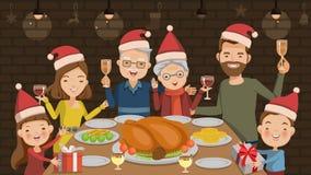 рождество украшает идеи обеда свежие домашние к Стоковая Фотография