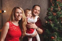 рождество украшая вал родного дома Стоковая Фотография