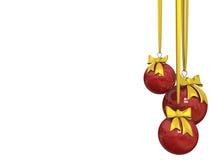 рождество шарика изолированное над белизной Стоковое Фото