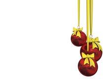 рождество шарика изолированное над белизной Стоковая Фотография