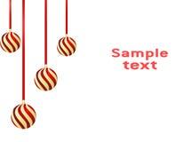 рождество шарика предпосылки Стоковое Фото