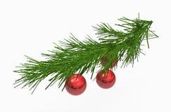 рождество шариков орнаментирует красный цвет Стоковые Изображения RF