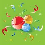 рождество шариков светя 3 Стоковые Изображения