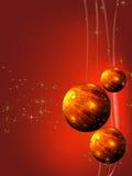 рождество шариков украшая орнаменты красные Стоковые Изображения RF