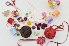 рождество шариков handmade Стоковое фото RF