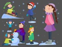 Рождество ягнится играть иллюстрацию вектора предпосылки зимнего отдыха Нового Года шаржа игр зимы бесплатная иллюстрация