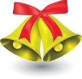 рождество 2 колокола Стоковые Фото