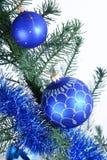 рождество 2 шарика голубое Стоковое Изображение