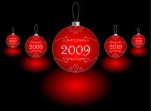 рождество 2009 шарика Стоковая Фотография