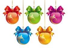 рождество 5 шариков Стоковое фото RF