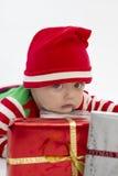 рождество babys сперва серьезное стоковое изображение